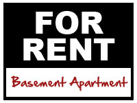 For Rent: Basement Apartment