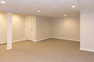 A complete finished basement system in a West Babylon home