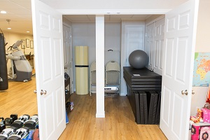 TBF finished basement with home gym in Islip